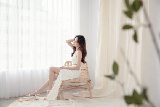 Khloe Cut Out Dress White 8