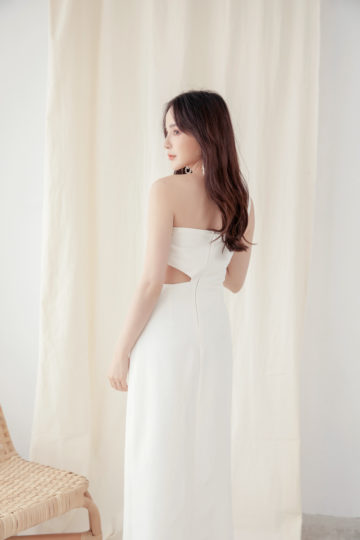 Khloe Cut Out Dress White 15