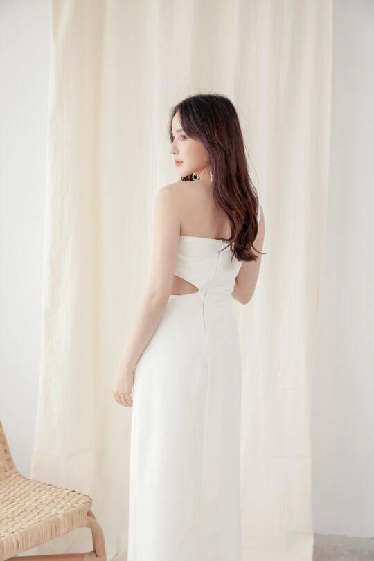 Khloe Cut Out Dress White 9