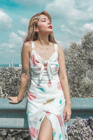Mellow Dress in marshmallow print 8