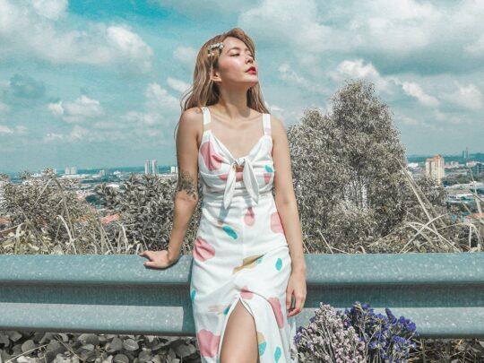Mellow Dress in marshmallow print 4
