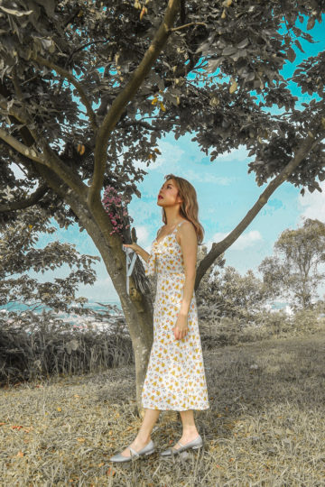 Mellow Dress in Yellow Flower 10