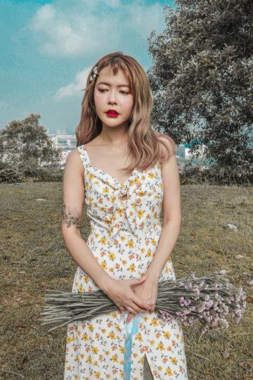Mellow Dress in Yellow Flower 9