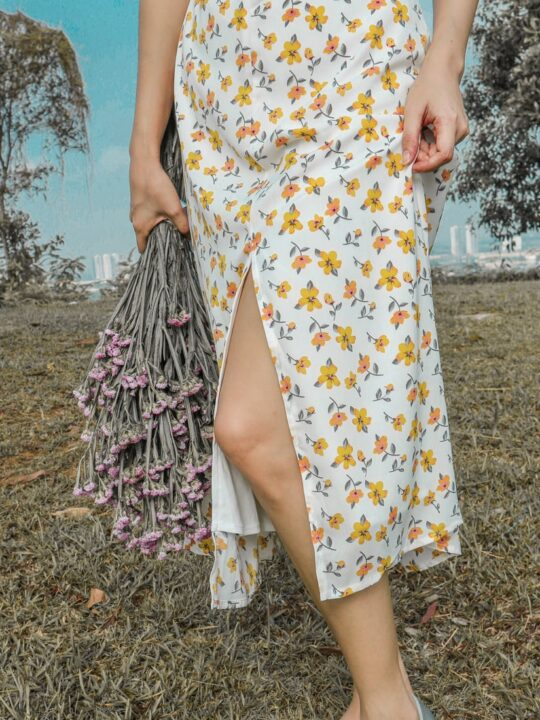 Mellow Dress in Yellow Flower 7