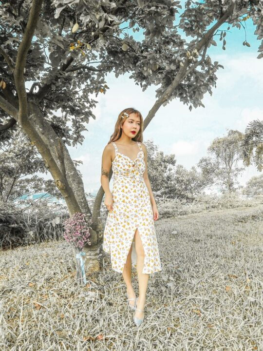 Mellow Dress in Yellow Flower 3