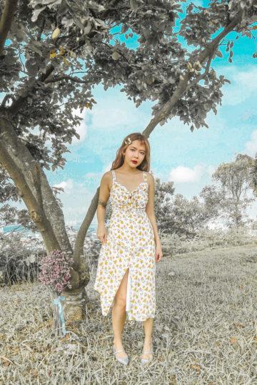 Mellow Dress in Yellow Flower 11