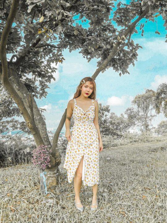 Mellow Dress in Yellow Flower 6