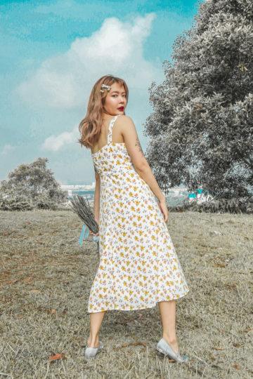 Mellow Dress in Yellow Flower 13