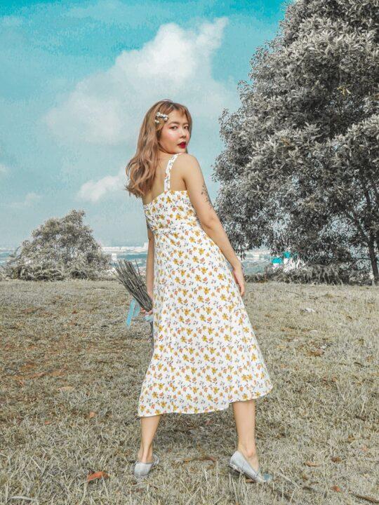 Mellow Dress in Yellow Flower 8