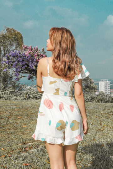 Mellow Playsuit in marshmallow print 11