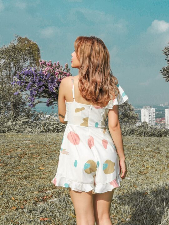 Mellow Playsuit in marshmallow print 7