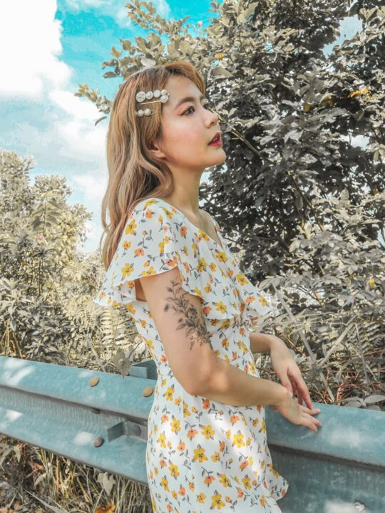 Mellow Playsuit in Yellow Flower 3