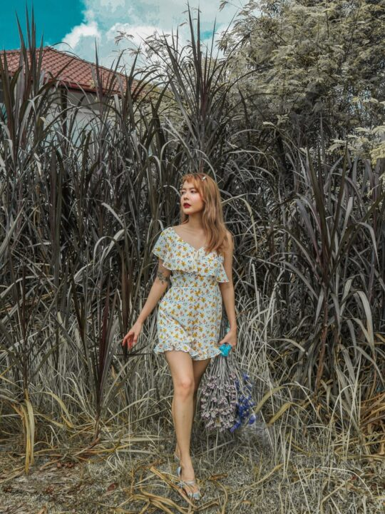 Mellow Playsuit in Yellow Flower 5