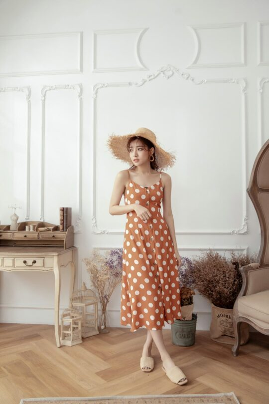 Christie Dottie Dress Orange 3