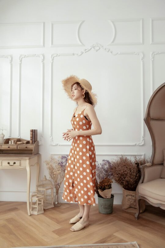 Christie Dottie Dress Orange 4