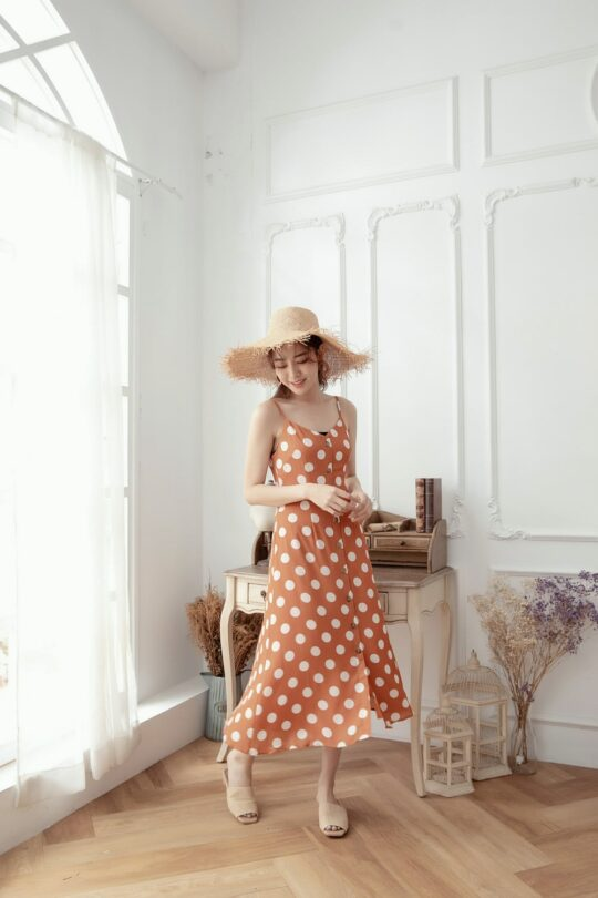 Christie Dottie Dress Orange 5