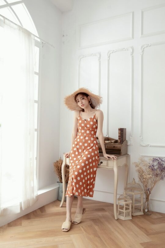 Christie Dottie Dress Orange 6