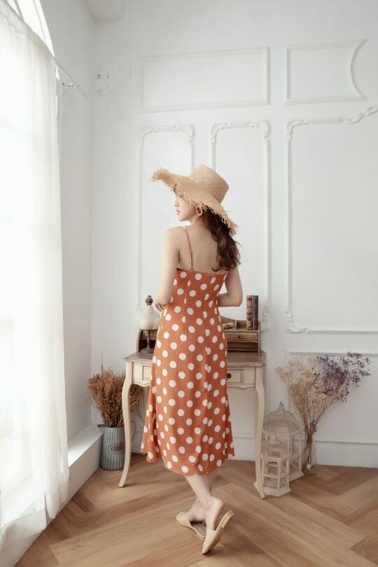Christie Dottie Dress Orange 9