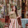 Cloe Dress Khaki 1