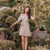 Cloe Dress Khaki 2