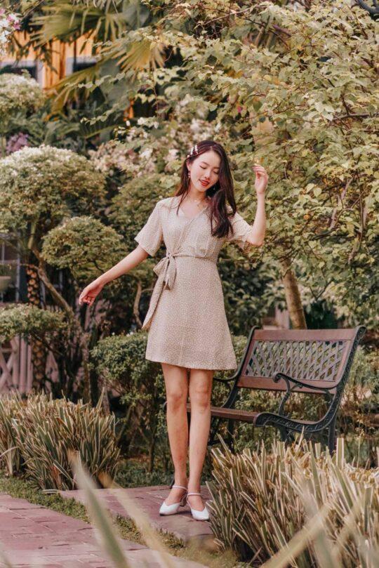 Cloe Dress Green 3
