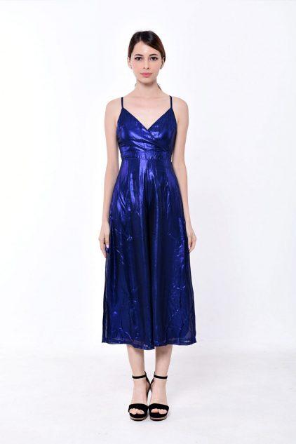 Metallic Playsuit Blue
