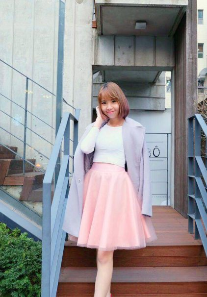 Korea Tutu Skirt in Rosequart